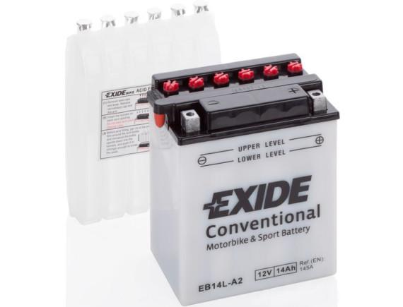 Мотоциклетный аккумулятор Exide EB14L-A2 (14 А·ч)