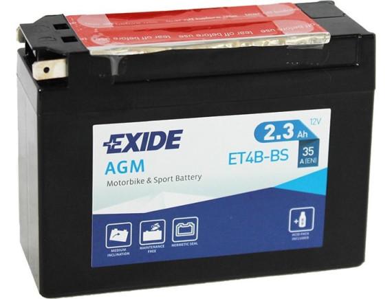 Мотоциклетный аккумулятор Exide ET4B-BS (2.3 А·ч)